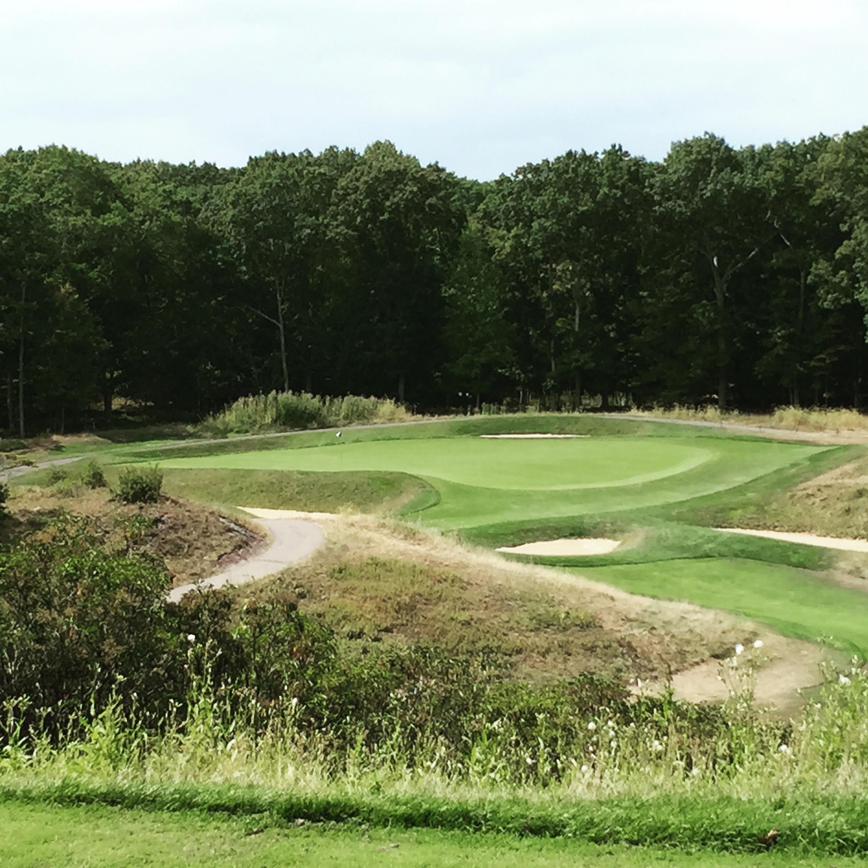 """#13 at Yale Golf Course . . . the C.B. MacDonald """"Redan"""" par 3"""